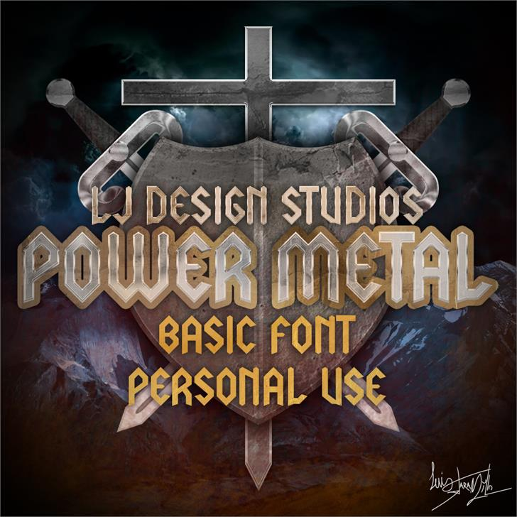 Image for LJ Power Metal PERSONAL USE font