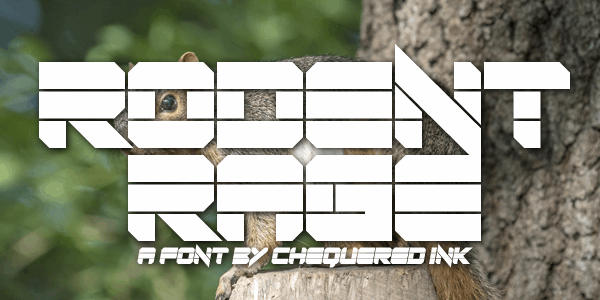 Rodent Rage font by Chequered Ink