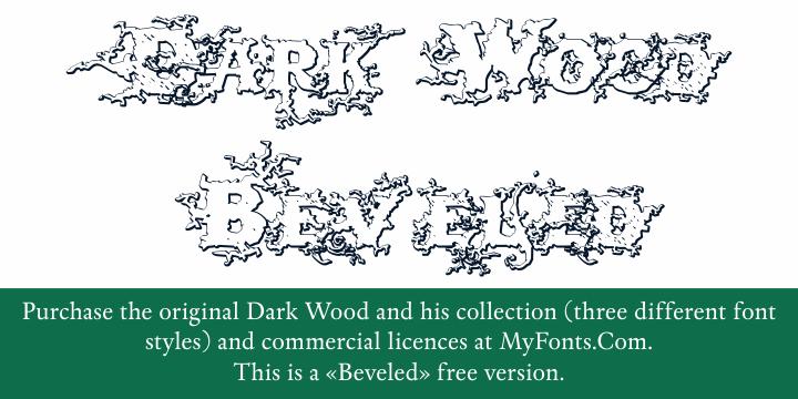 DarkWoodBeveled font by Intellecta Design