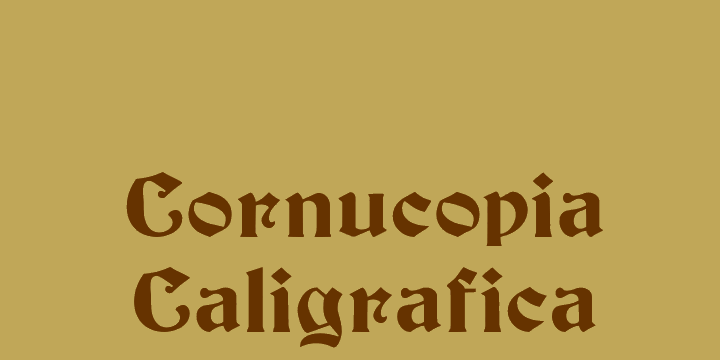 Cornucopia Caligrafica font by Intellecta Design