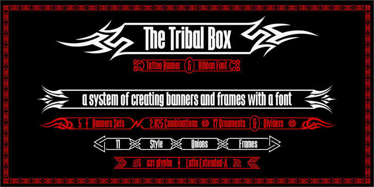 Image for The Tribal Box font