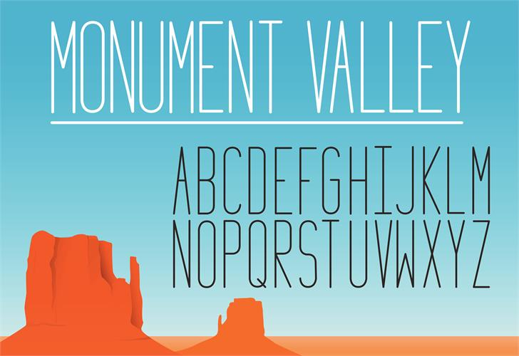 Monument_Valley_1.2 font by turbocass