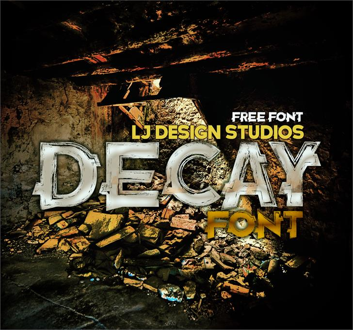 Decay font by LJ Design Studios