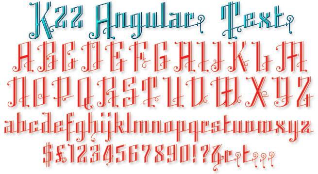 Image for K22 Angular Text font