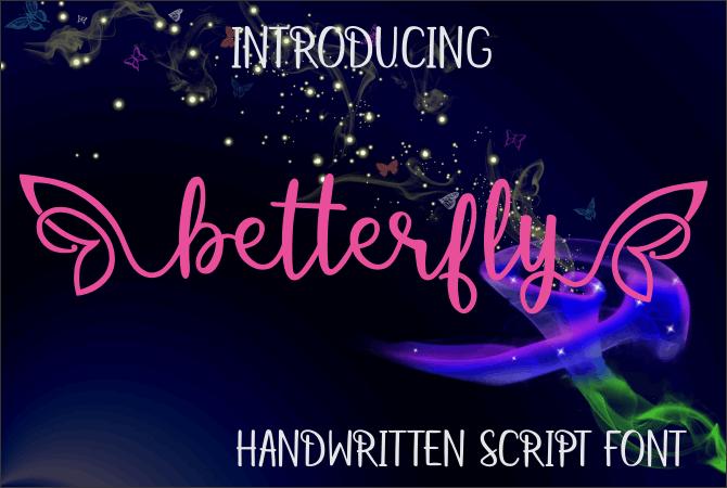 betterfly font by Jaime Rangel Castro