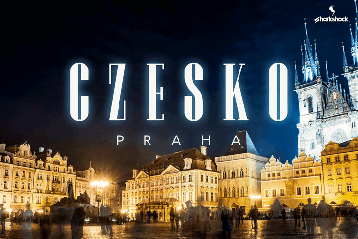 Czesko font by sharkshock