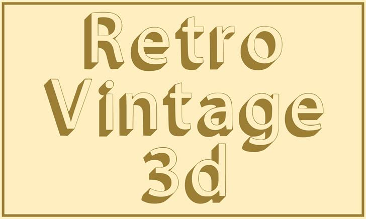 Image for Retro Vintage 3d font