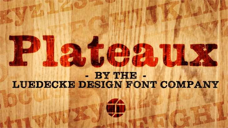 Plateaux font by Jake Luedecke Motion & Graphic Design
