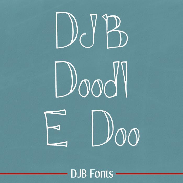 Image for DJB DOODL E DOO font