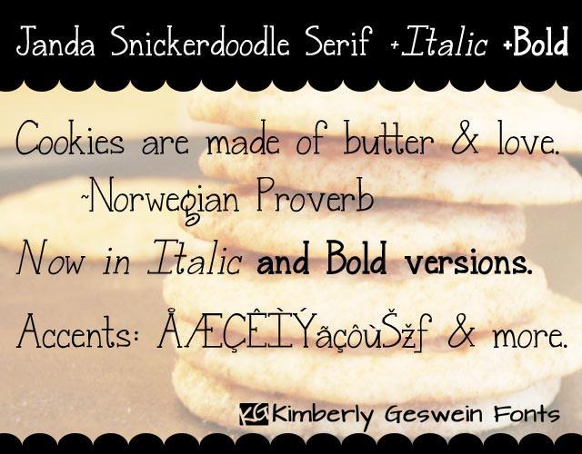 Image for Janda Snickerdoodle Serif font