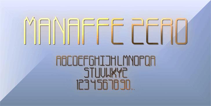 Manaffe-Zero Yunis font by XoSK Fonts
