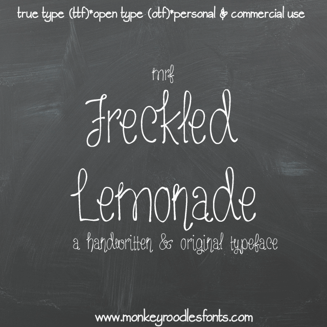 Image for MRF Freckled Lemonade font