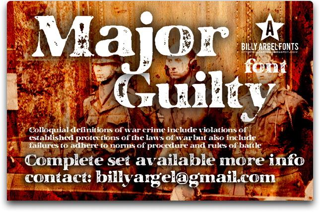 Image for MAJOR GUILTY font