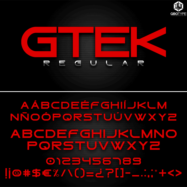 Gtek Regular font by Qbotype Fonts