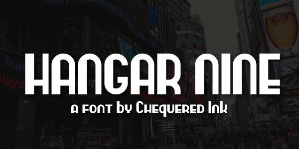 Image for Hangar Nine font