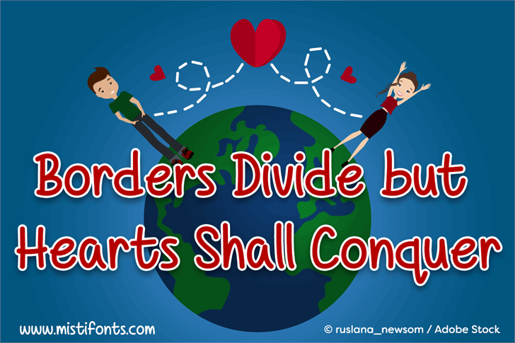 Image for Borders Divide, But Hearts Shal font