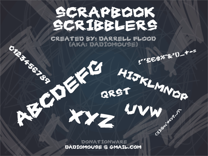 Image for Scrapbook Scribblers font