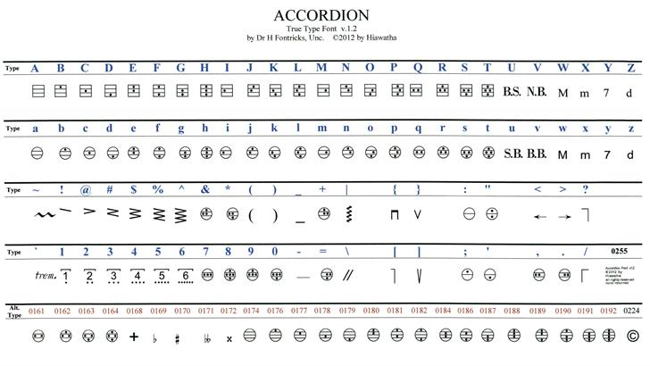 Image for Accordion font