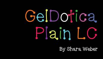 GelDoticaPlainLowerCase font by Shara Weber