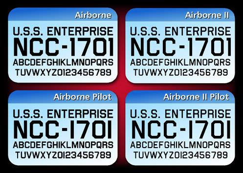Airborne font by Charles Casimiro Design