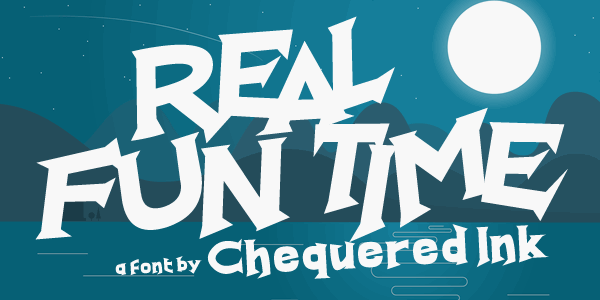 Real Fun Time font by Chequered Ink
