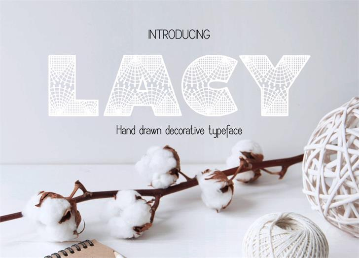 Image for Lacy font
