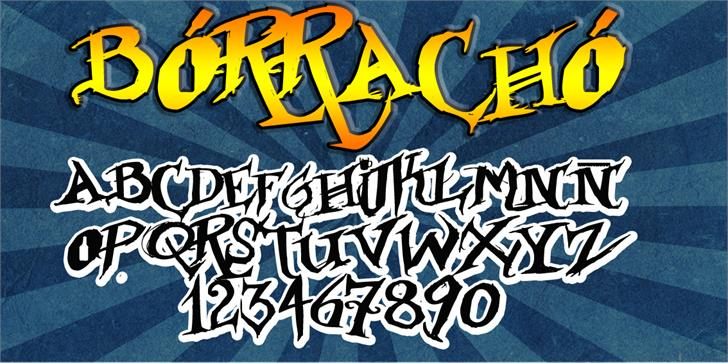 Image for Borracho font
