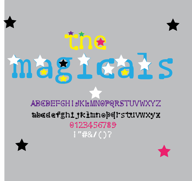 Image for the magicals font