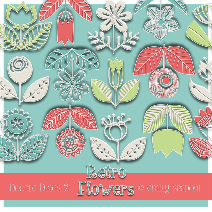 Image for DoodleDings 2 RetroFlowers font