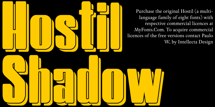 Image for HostilShadow font