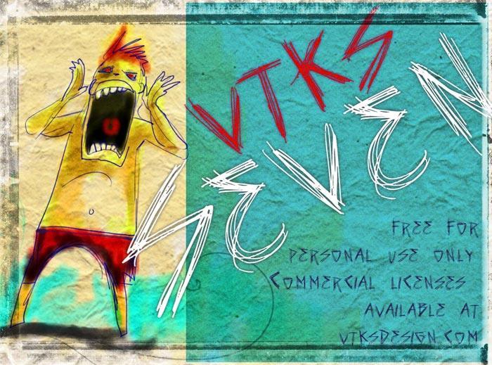 Image for vtks seven font