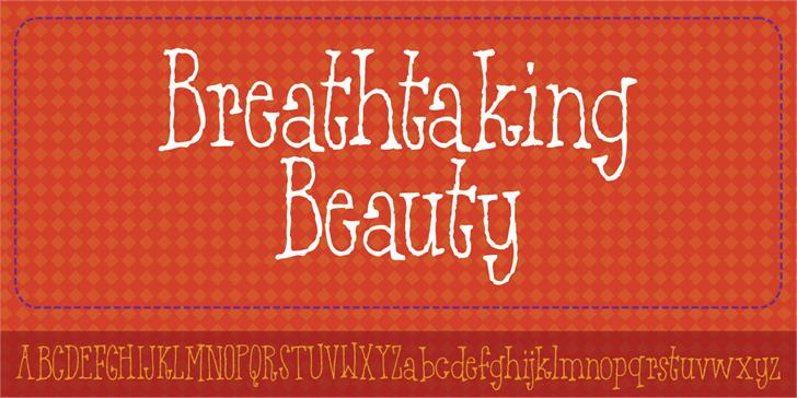 Breathtaking Beauty DEMO font by pizzadude.dk