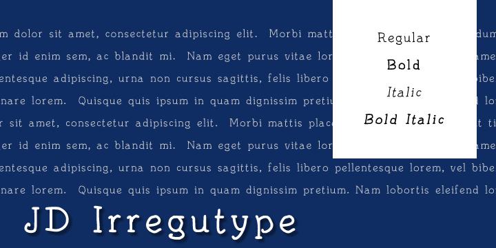 Image for JD Irregutype font