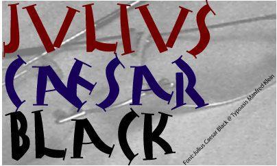 Image for Julius Caesar Black font