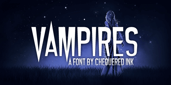 Vampires font by Chequered Ink