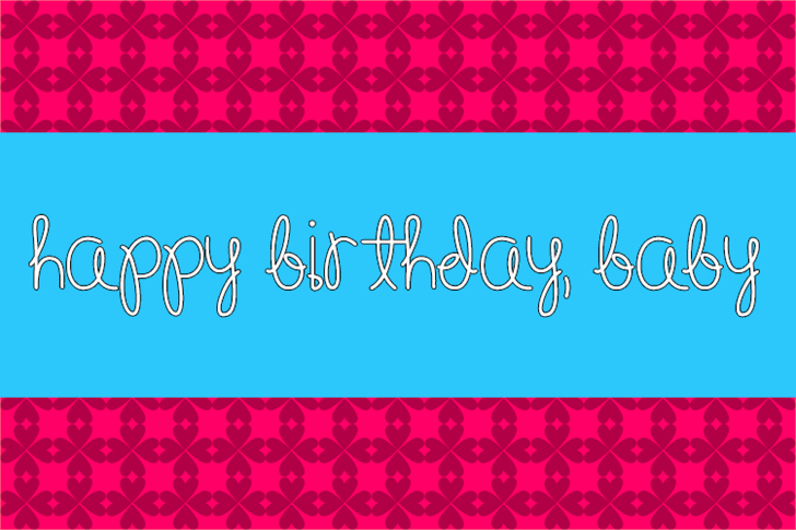 Image for Happy Birthday, Baby font