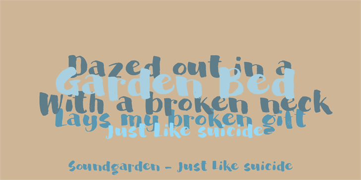 Image for DK Garden Bed font