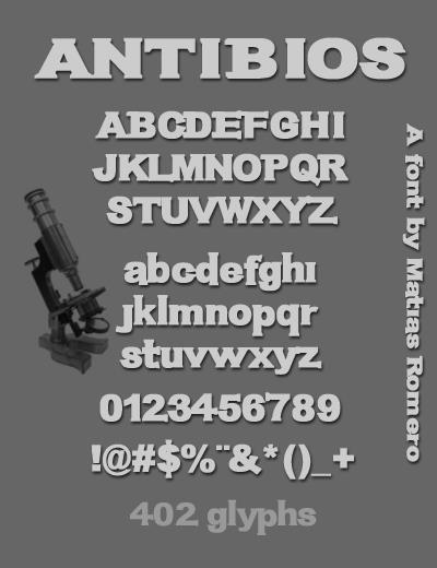 Image for Antibios font