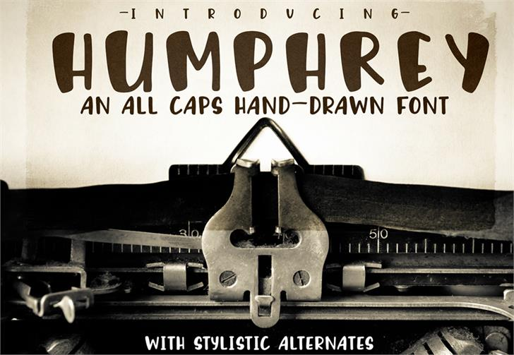Humphrey font by GroovyJournal