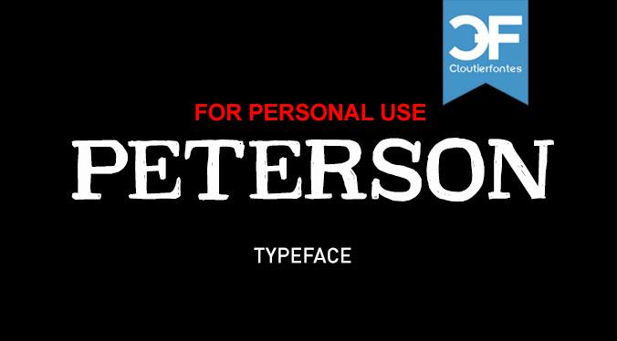 Image for CF PetersonPERSONAL font