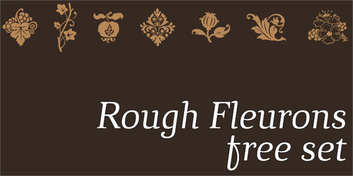 Image for Rough Fleurons Free font