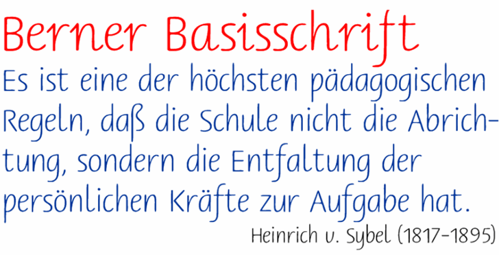 Image for Berner Basisschrift font