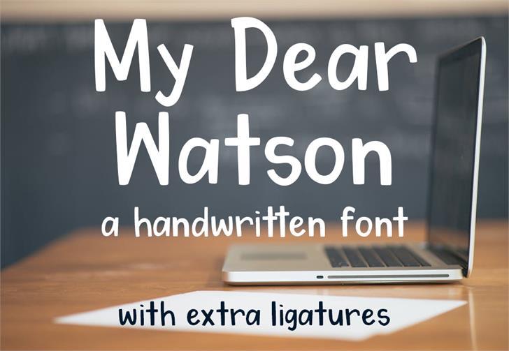 Image for My Dear Watson font
