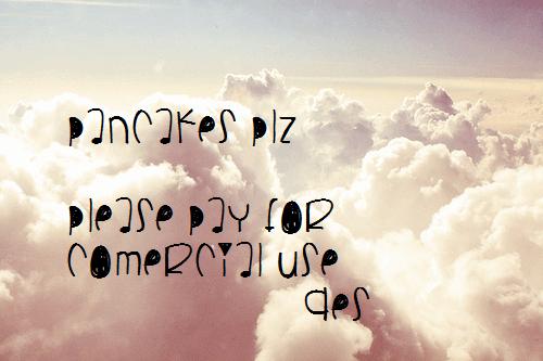 Image for PancakesPlz font