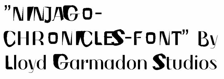 Image for NINJAGOCHRONICLES font