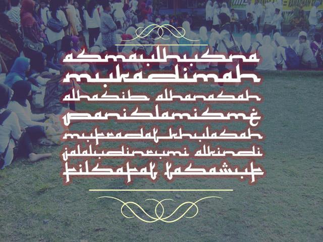 Mukadimah font by Gunarta