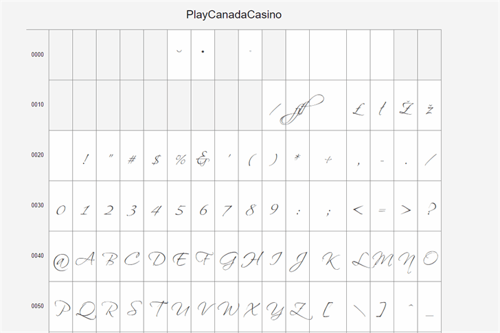 PlayCanadaCasino font by Playcanadacasino