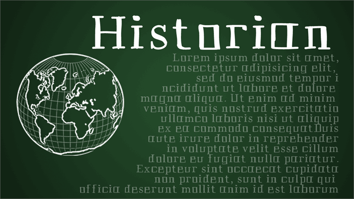 Image for Historian font