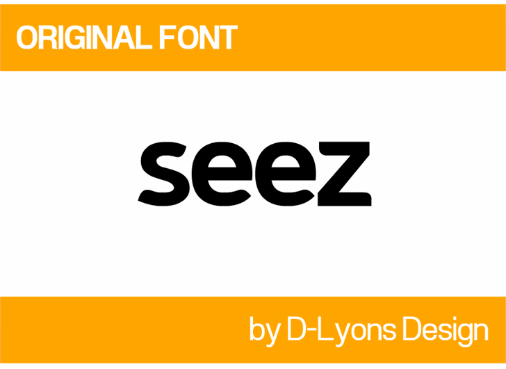 Image for Seez font