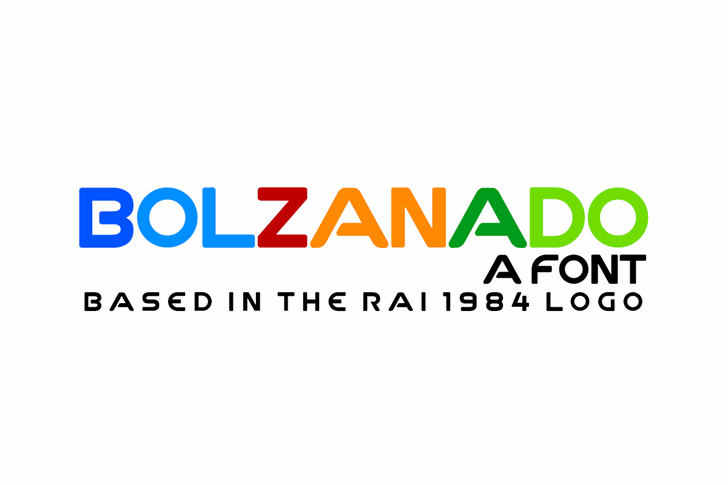 Image for Bolzanado font